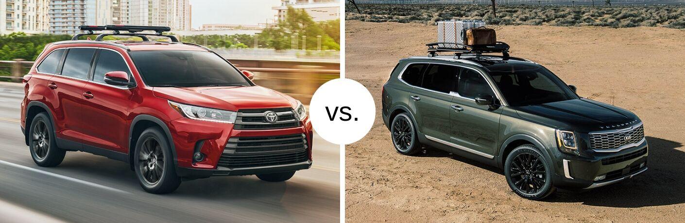 New Toyota Highlander and Kia Telluride in comparison image