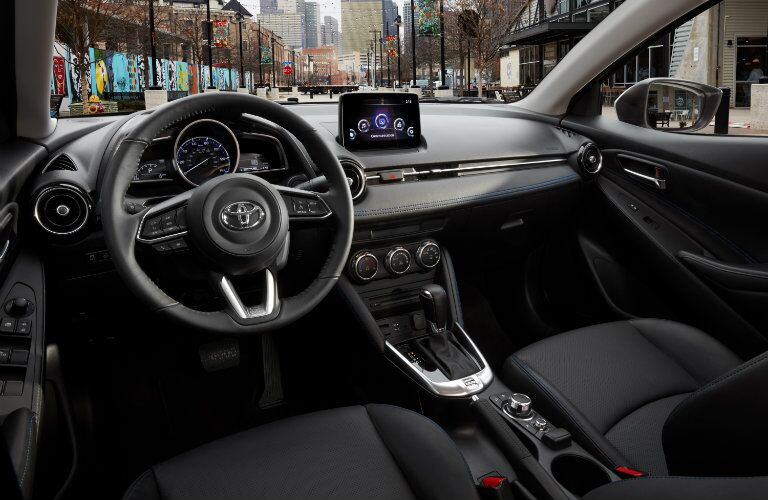 Steering wheel and center console of new 2019 Toyota Yaris