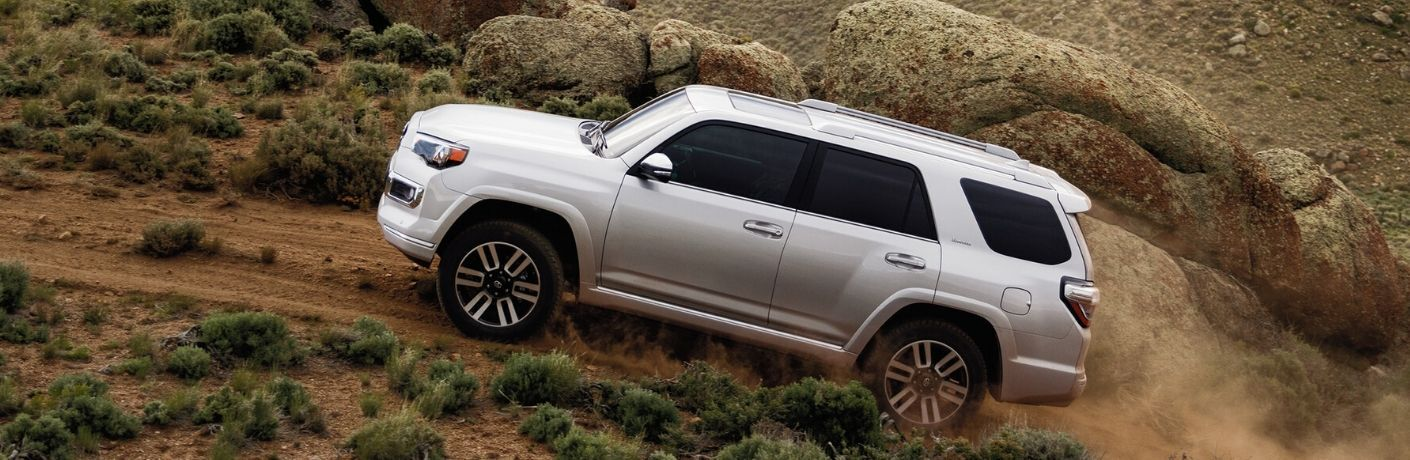Exterior view of a silver 2020 Toyota 4Runner