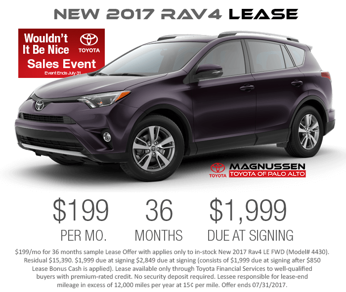 2017 rav4 lease and finance offers sf bay area rav4 dealer. Black Bedroom Furniture Sets. Home Design Ideas