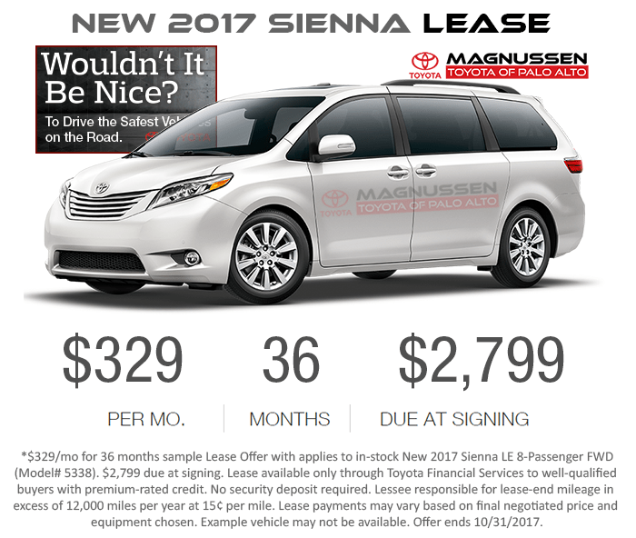Toyota Sienna Lease Deals Ca