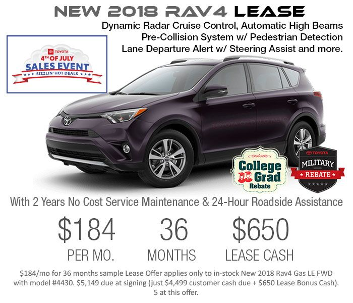 2018 rav4 july 4th lease offer. Black Bedroom Furniture Sets. Home Design Ideas