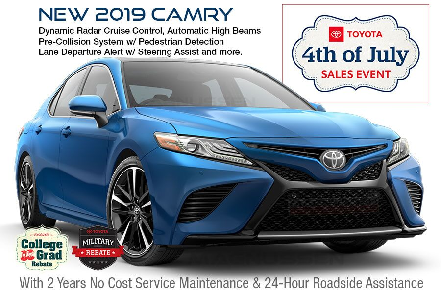Check out 4th of July Camry vehicle offers near San Jose in SF Bay Area, CA.