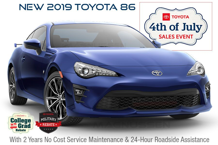 Toyota 86 July 4th Offers