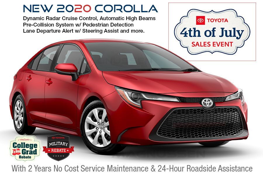 Check out 4th of July Corolla vehicle offers near San Jose in SF Bay Area, CA.