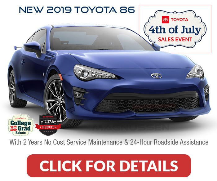 Click to see Toyota 86 July 4th offers.
