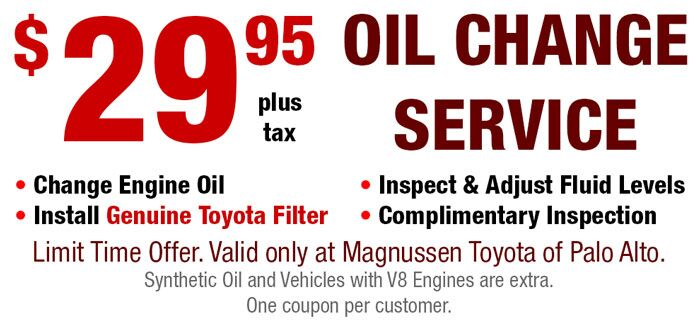 Cheapest Oil Change Coupon in Palo Alto - only $29.95