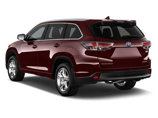 2016 Toyota Highlander Hybrid Rear View