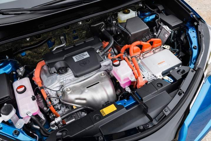 2016 Toyota RAV4 Hybrid Engine View