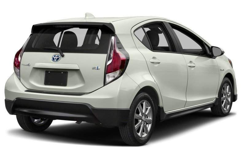 2017 Toyota Prius c Rear View