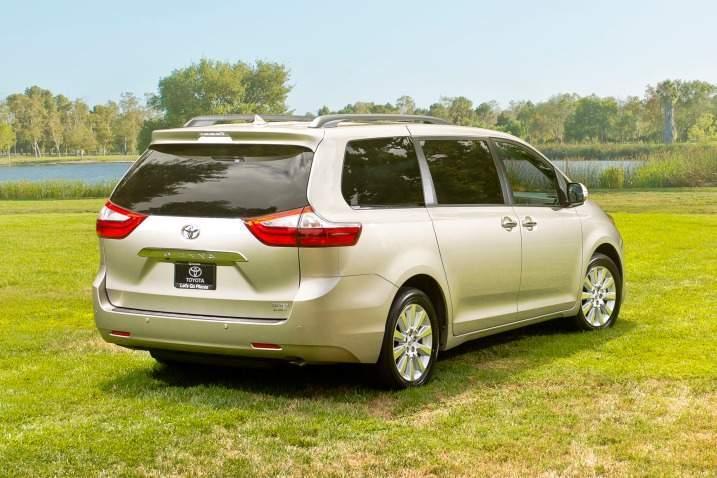 2017 Toyota Sienna Rear View