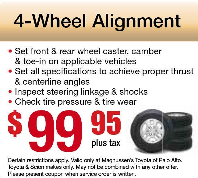 Wheel Alignment Coupon - Mountain View Auto Repair Service