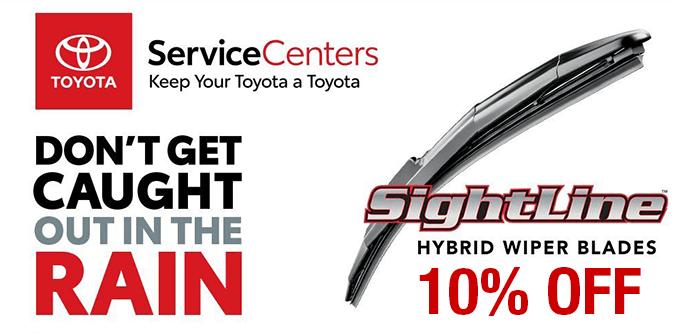 Toyota Sightline Hybrid Wipers.