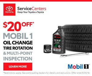 Visit Toyota Service Center serving Mountain View, Sunnyvale & Palo Alto for Toyota Complete Service with Mobile1 Oil Change.
