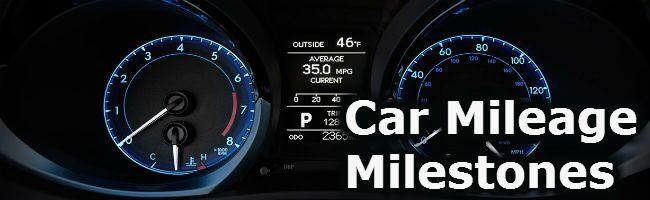 car mileage milestones Toyota Palo Alto San Jose CA
