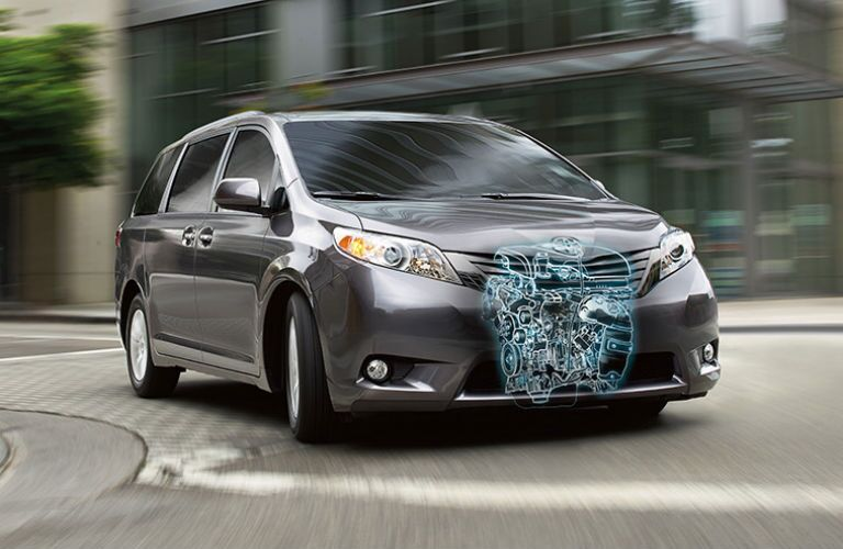 What kind of engine does the Toyota Sienna have?