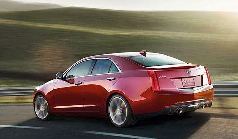 2018 Cadillac ATS-V in red