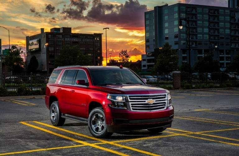 2018 Chevy Tahoe in red