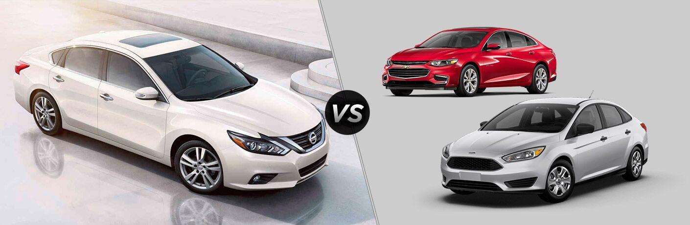 2017 Nissan Altima vs. 2017 Chevrolet Malibu vs. 2017 Ford Focus Vacaville CA