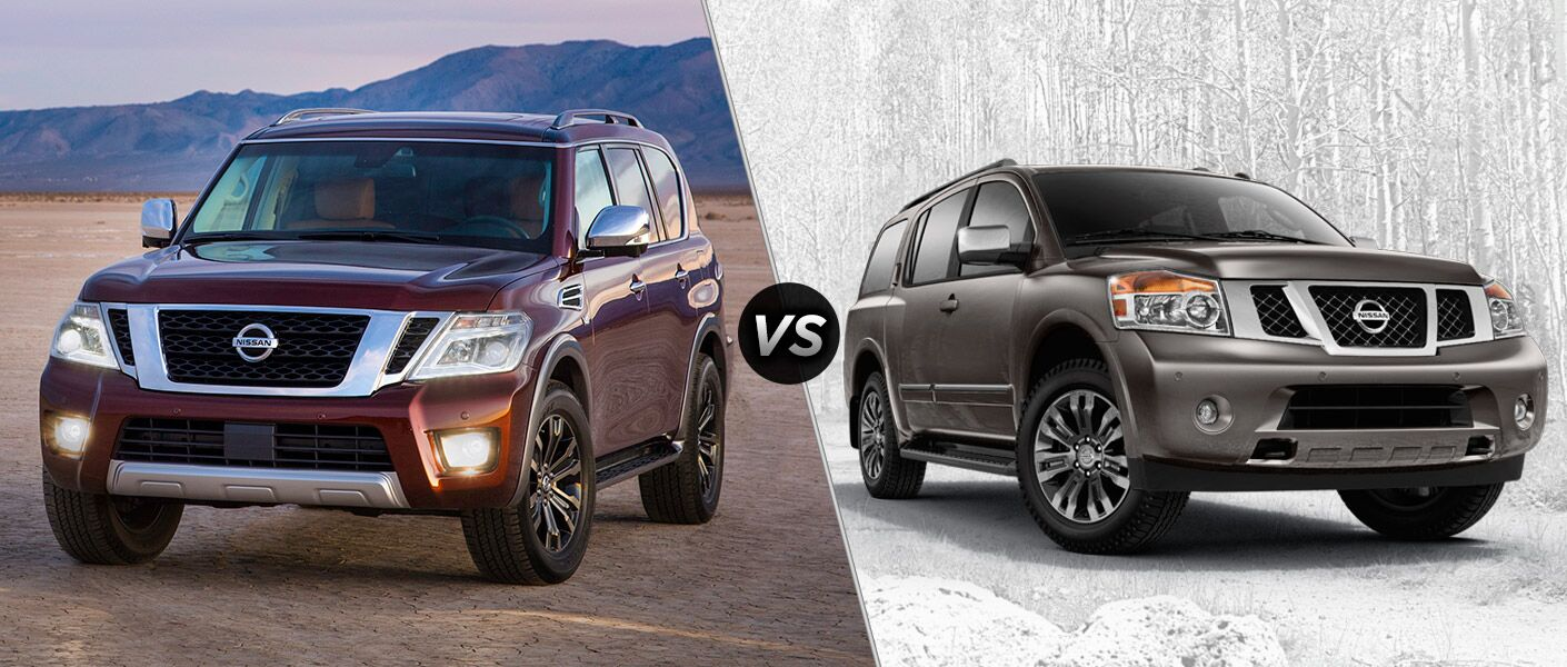 2017 Nissan Armada vs. 2015 Nissan Armada full-size SUVs Vacaville CA Nissan