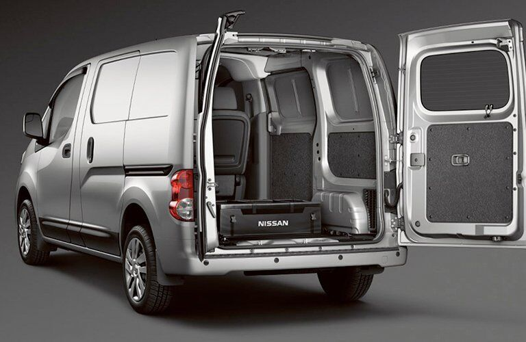 2017 NV200 Compact Cargo with Rear Door Open