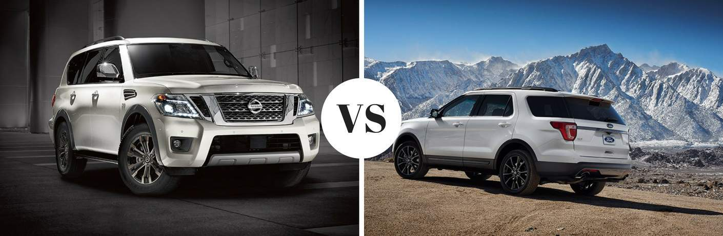 2017 Nissan Armada vs 2017 Ford Explorer