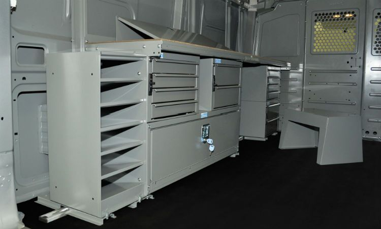 Shelving upfitting options Vacaville Sacramento Nissan Commercial Vehicles NV200 NV1500 NV2500 NV3500