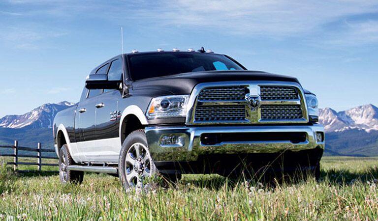 Ram 3500 Truck sitting in a farm field