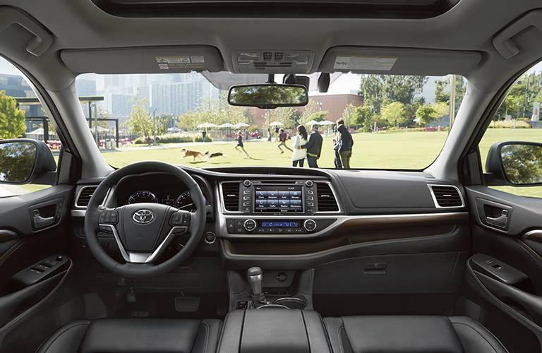 Interior room 2016 Toyota Highlander midsize SUV Novato CA Toyota