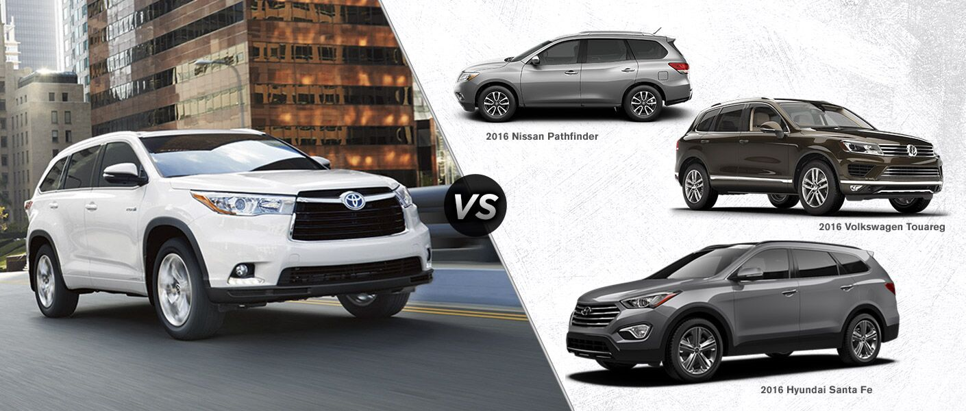 2016 Toyota Highlander Vs 2016 Nissan Pathfinder Vs 2016