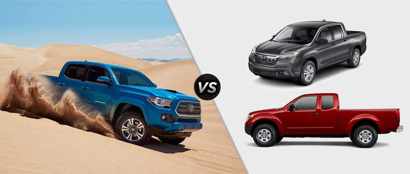 2017 Toyota Tacoma Vs. 2017 Honda Ridgeline Vs. 2016 Nissan Frontier