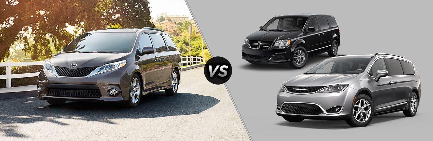 2017 Toyota Sienna vs. 2017 Dodge Grand Caravan and 2017 Chrysler Pacifica Petaluma CA