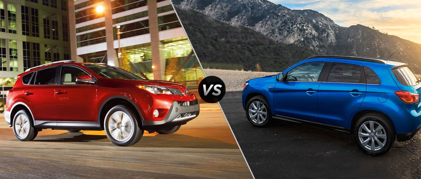 Compare the 2015 Toyota Rav4 vs 2015 Mitsubishi Outlander Sport with the help of Continental Motors.
