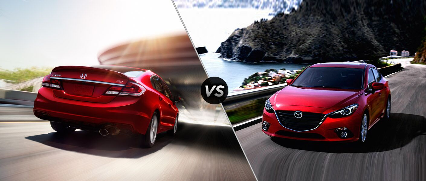 2015 honda civic sedan vs 2015 mazda 3