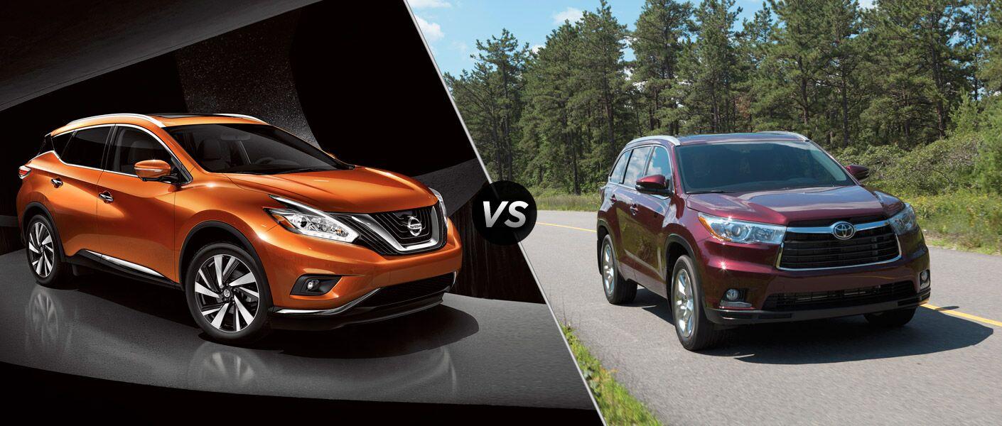 2015 Nissan Murano vs 2015 Toyota Highlander