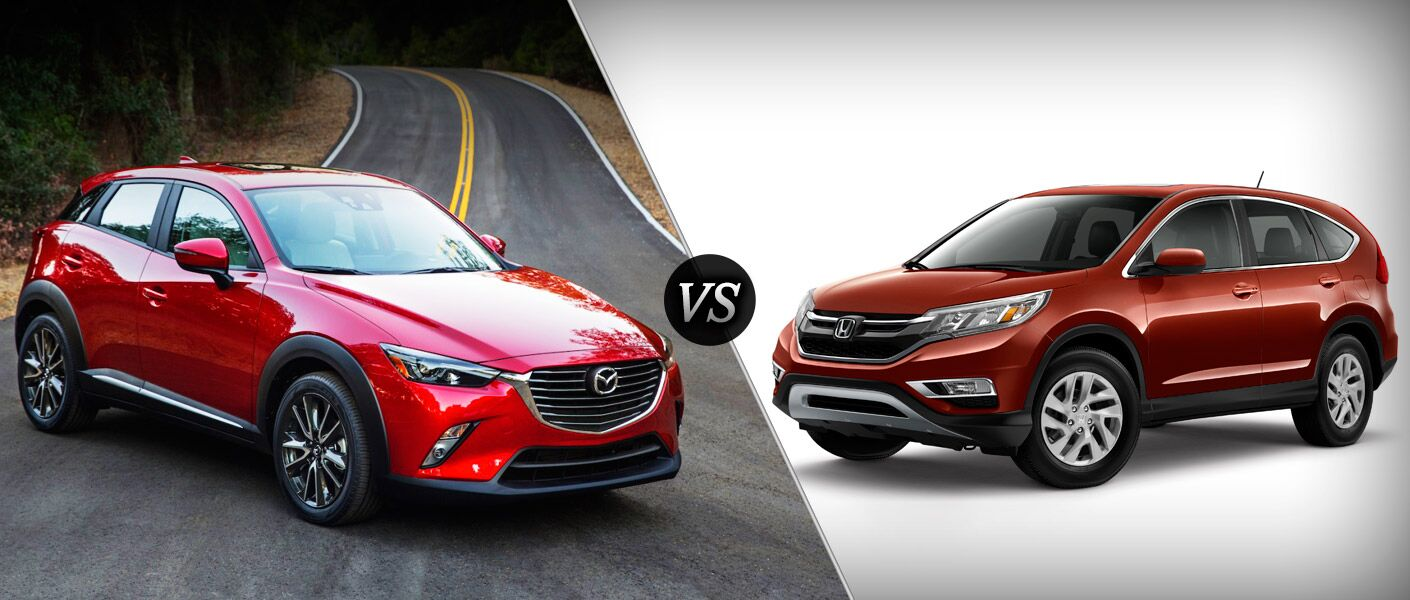 2016 Mazda CX-3 vs 2015 Honda CR-V exterior features