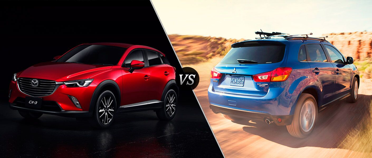 2016 Mazda CX-3 vs 2015 Mitsubishi Outlander Sport features exterior