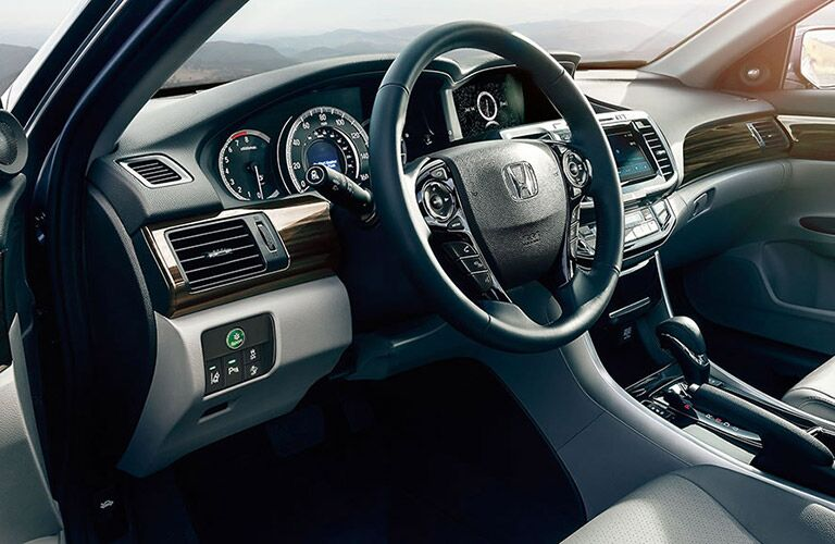 steering wheel and dashboard of the 2016 Honda Accord