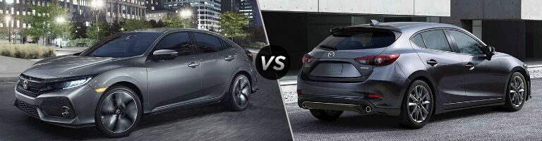2017 Honda Civic vs 2017 Mazda3