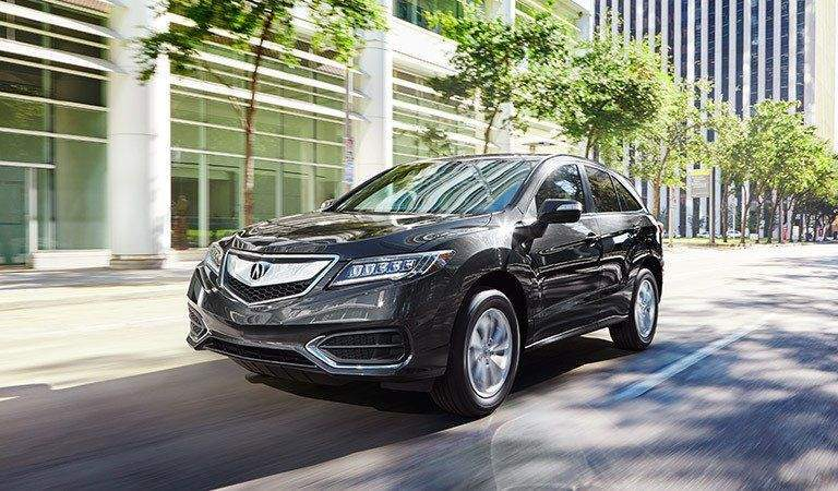 Acura RDX driving in the city
