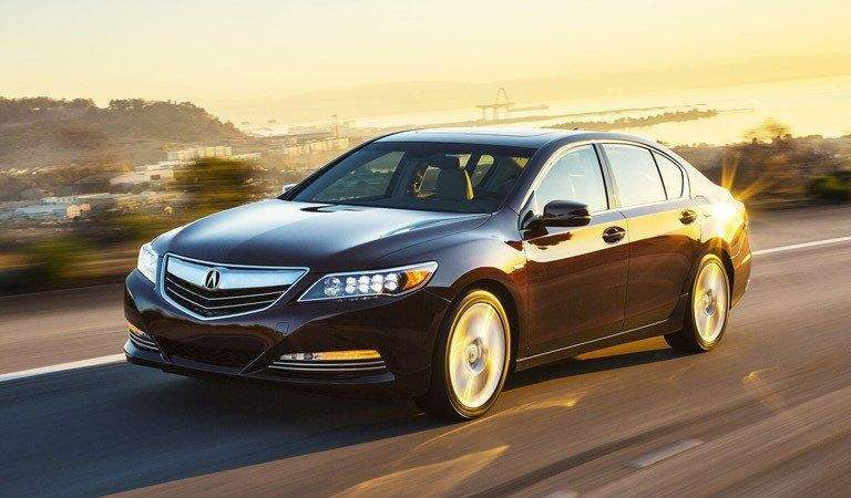Acura RLX driving by the ocean