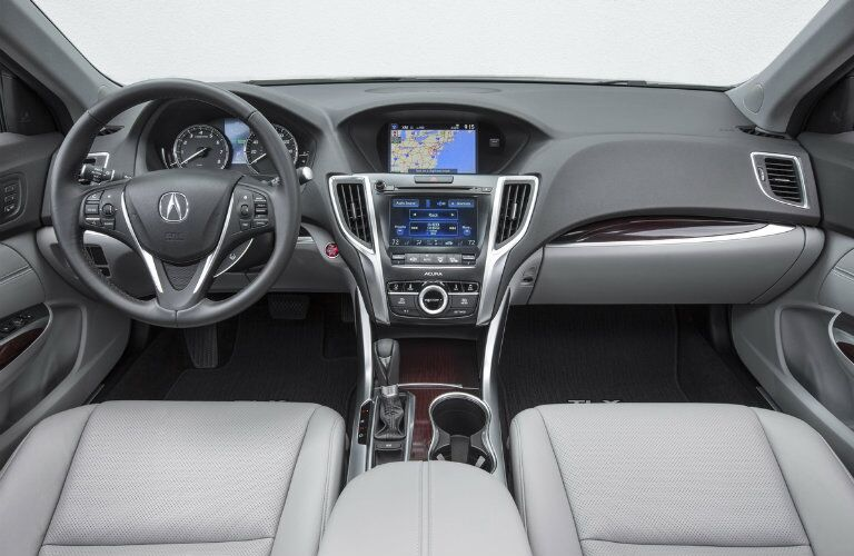 Acura TLX steering wheel and front dash
