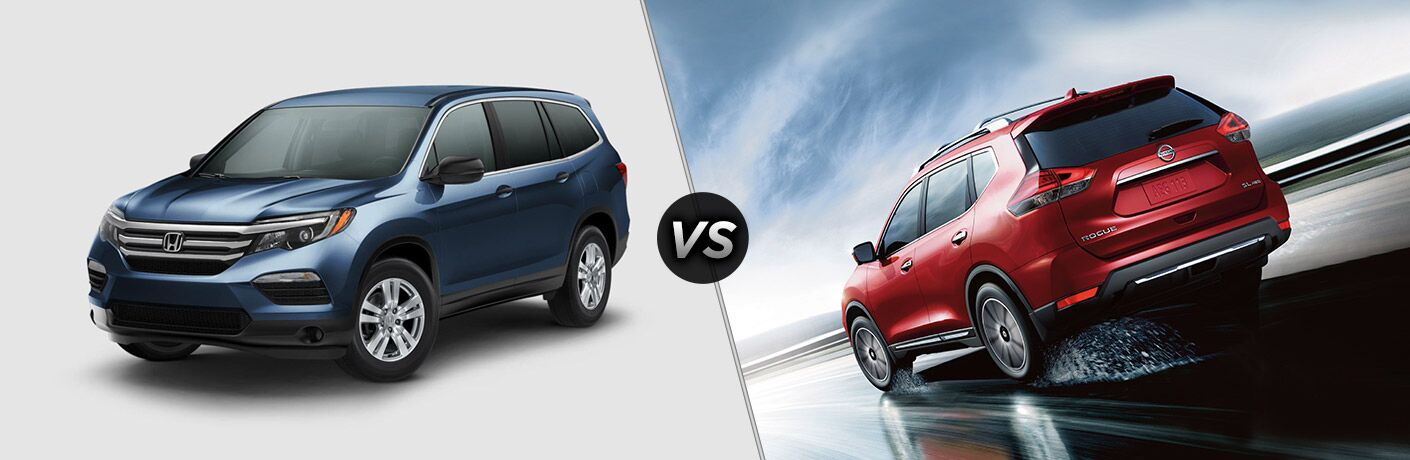 2017 Honda Pilot vs 2017 Nissan Rogue comparison