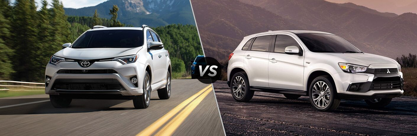 2017 Toyota Rav4 vs. 2017 Mitsubishi Outlander Sport comparison