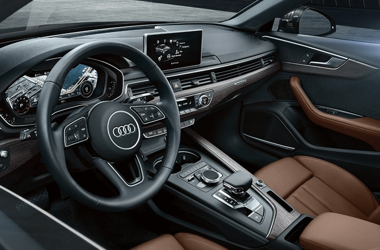 interior front of the 2018 Audi A4