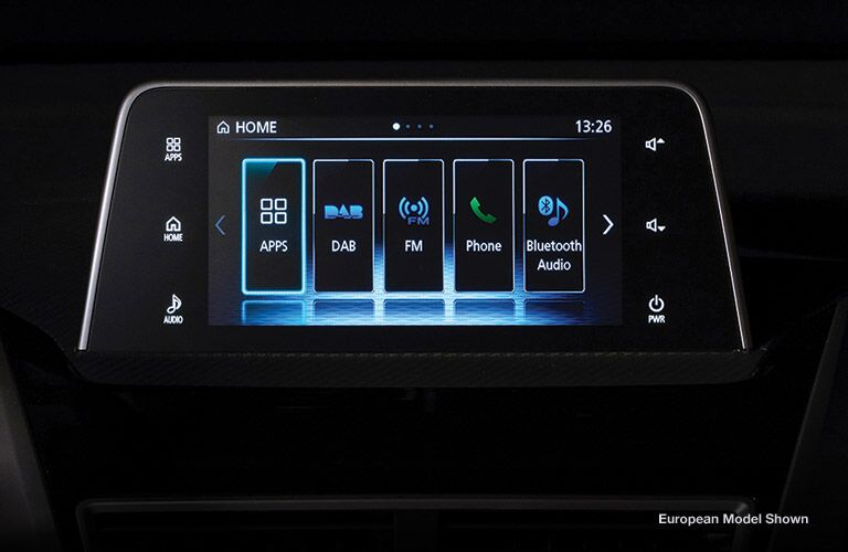 infotainment system inside the 2018 Mitsubishi Eclipse Cross