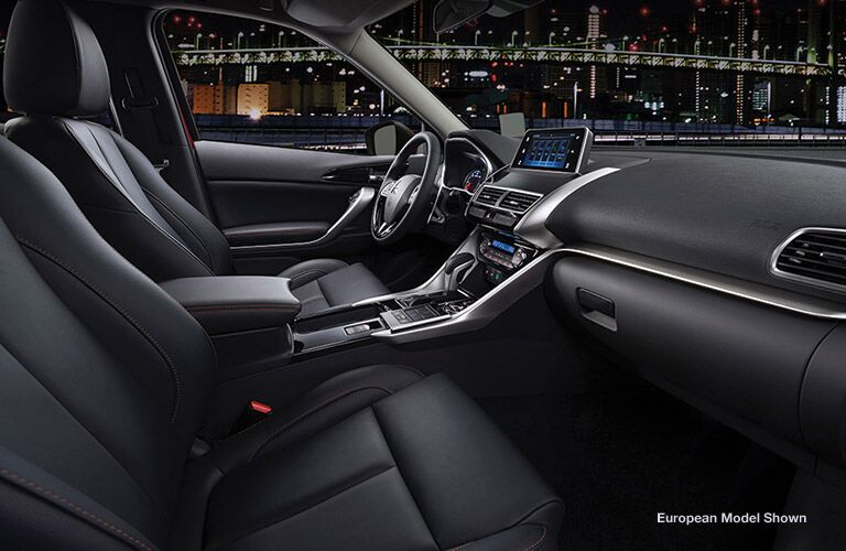 interior front of the 2018 Mitsubishi Eclipse Cross
