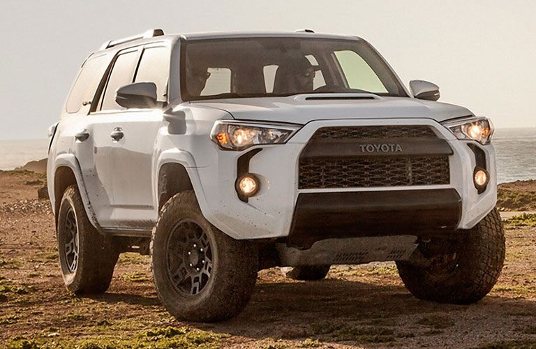 Toyota 4Runner parked off road