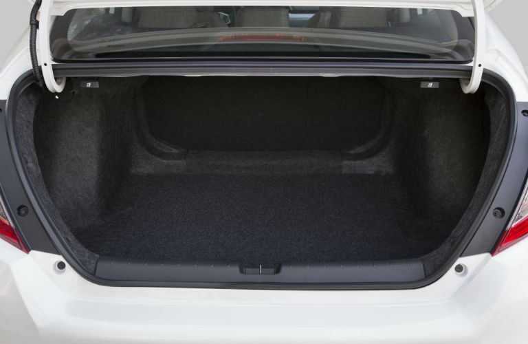 cargo space in the trunk in the 2018 Honda Civic