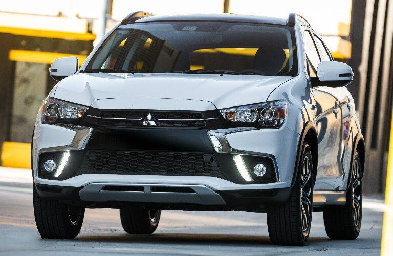 white 2018 Mitsubishi Outlander Sport exterior front